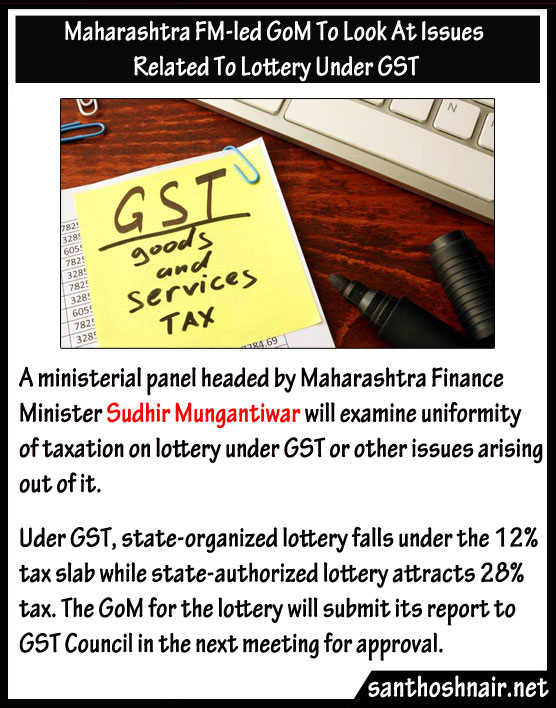 Maharashtra FM led GoM to look at issues related to lottery under GST