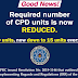 PRC's Required CPD Units: REDUCED