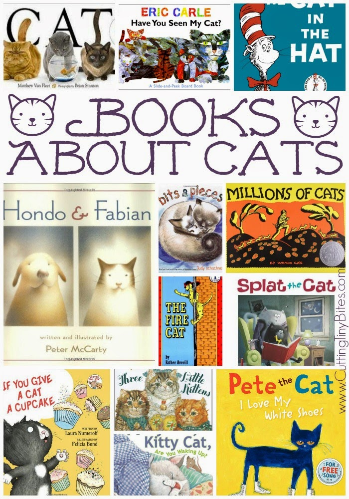 Books About Cats for Preschool Theme Week