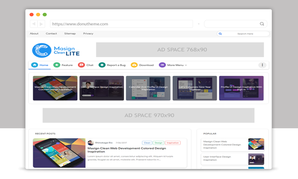 Masign Clean Lite Blogger Template