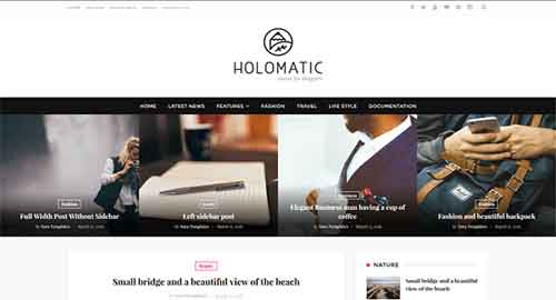 Holomatic Blogger Template