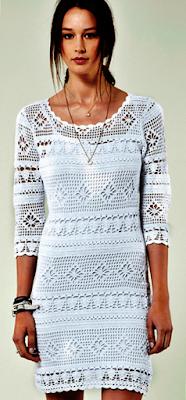 wzor darmowy bialej sukienki