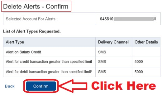 deactivate insta alert hdfc