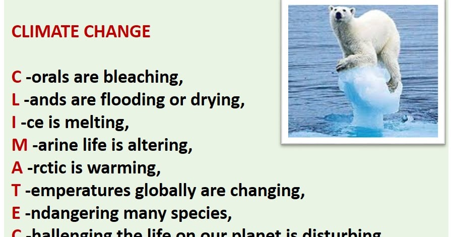 acrostic poem on climate change