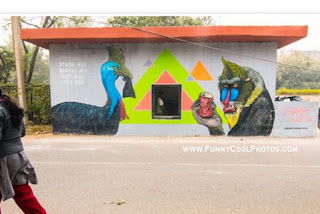 street wall painting designs in delhi