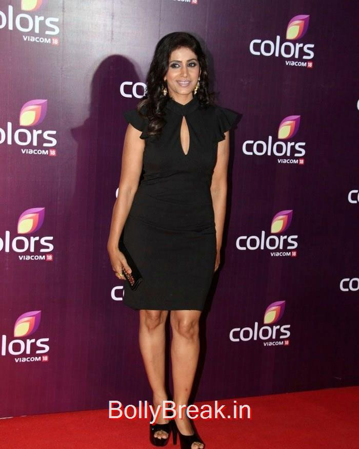 Sonali Kulkarni, Malaika Arora Khan Sridevi Hot HD Images At Colors Leadership Awards 2015