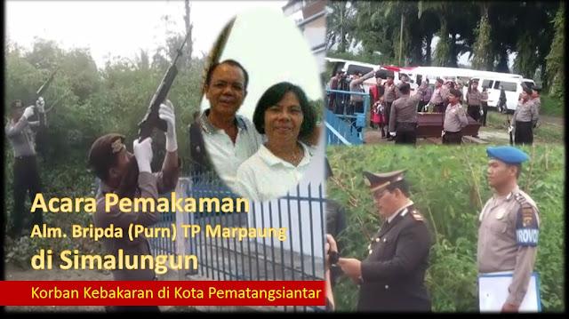 Inilah Acara Kepolisian Pemakaman Alm Bripda (Purn) TP Marpaung (Korban Kebakaran) di Simalungun