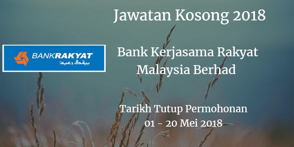 Jawatan Kosong Bank Rakyat 01 - 20 Mei 2018