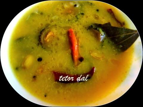 Bitter gourd lentil soup Tetor dal