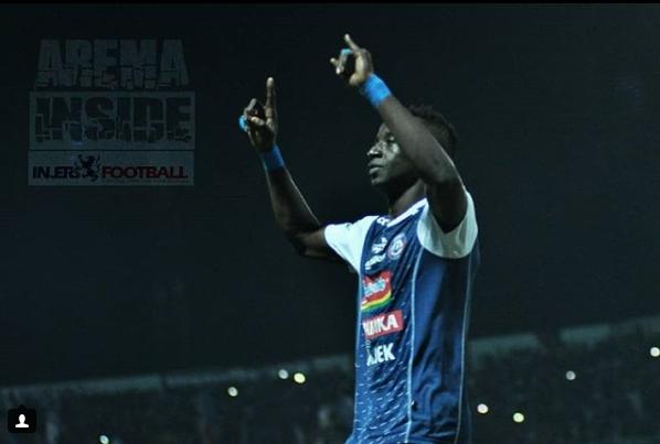 Pemain Arema FC Makan Konate ( Eks Persib Bandung )