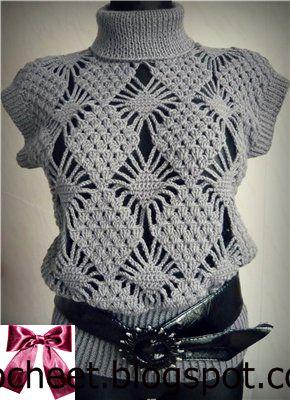 f527a8e8fb2eb beside crochet  بلوزة كروشية بنقشة مربعات