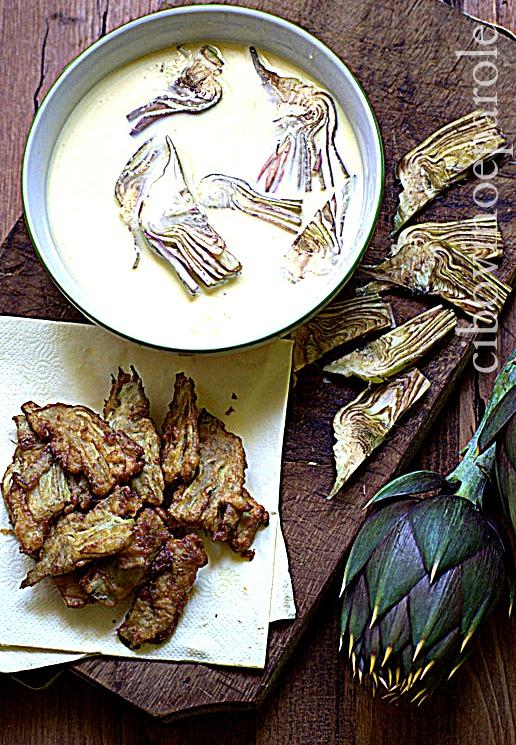 Carciofi in pastella - tagliati a fettine