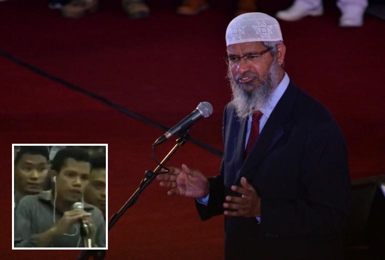 Dr Zakir Naik dan Fix di Makassar