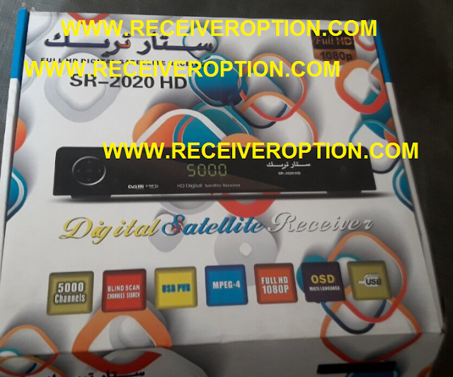 STAR TRACK SR-2020 HD RECEIVER AUTO ROLL POWERVU KEY NEW SOFTWARE
