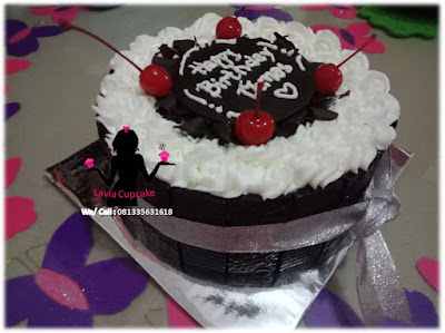 Kue Tart Bolu Cream Coklat