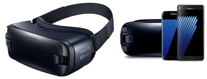 Samsung Gear VR - Virtual Reality Headset - Latest Edition Samsung Galaxy S7 & Edge