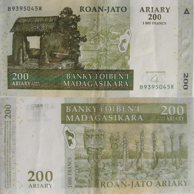 200 ariary madagascar money