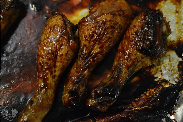 Jamoncitos de pollo con curry y miel tererecetas 03