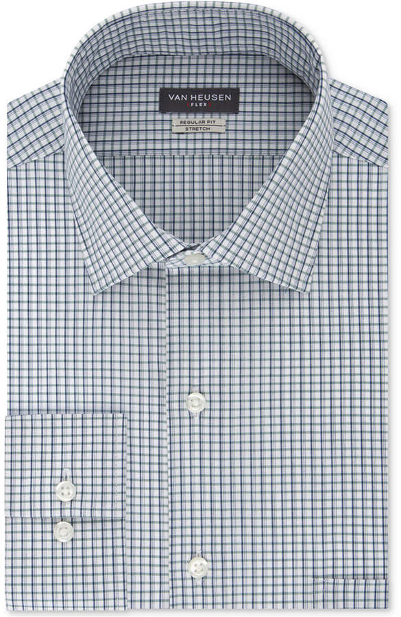 Van Heusen Men's Classic/Regular Fit Wrinkle-Free Flex Collar Stretch Check Dress Shirt