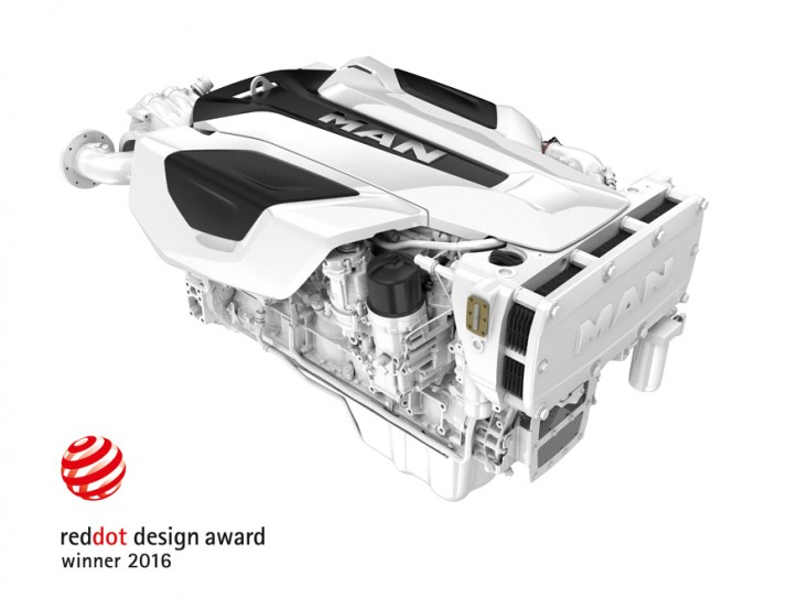 MAN i6 six-cylinder yacht engine wins Red Dot Award for its outstanding design