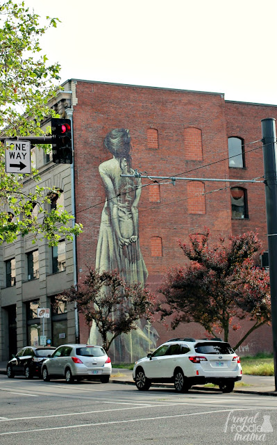 This impressive mural is called Faith47 and it is located at the corner of Southwest Washington and 10th Streets. It is a popular photography spot for wedding parties in Portland, OR.