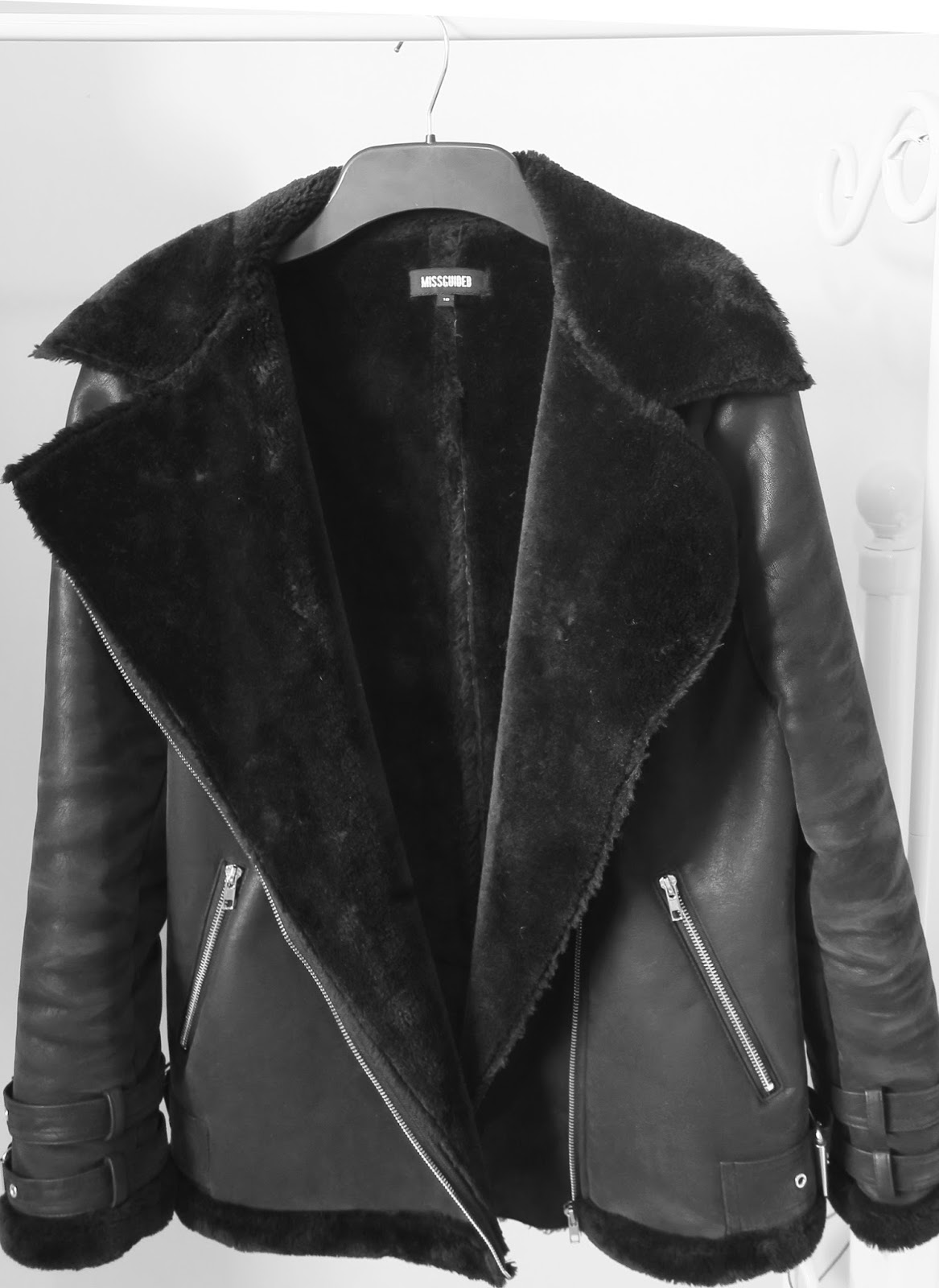 acne style shearling jacket