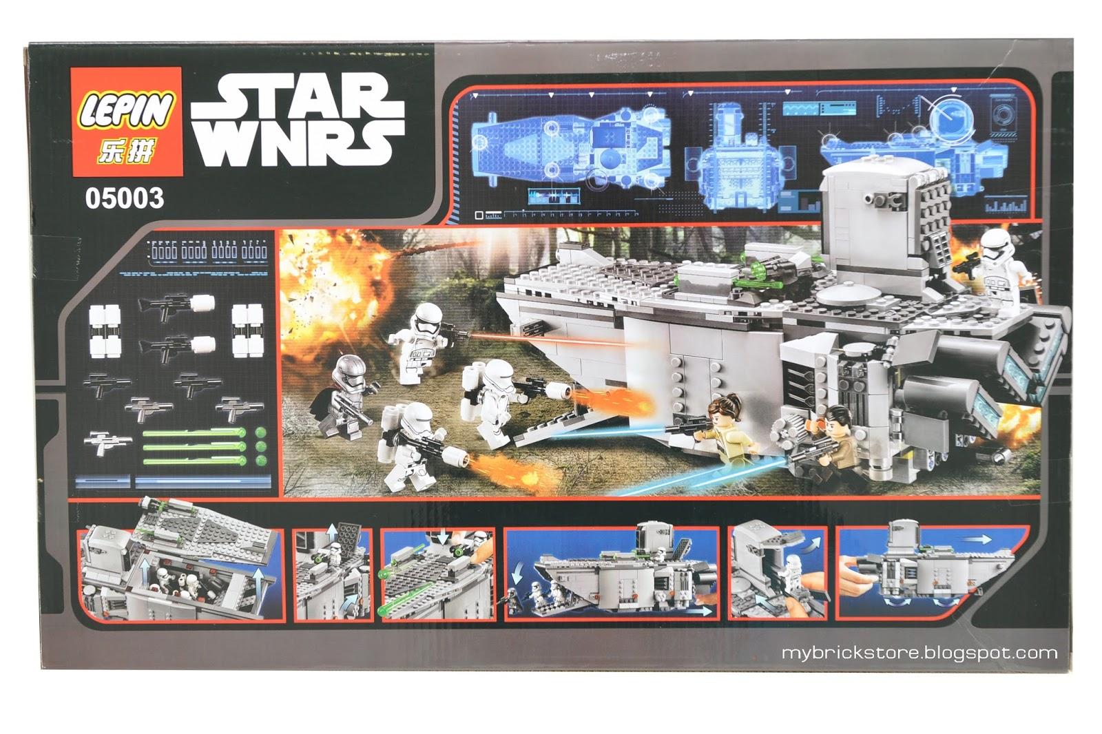 My brick store lepin 05003 lego star wars first order - Lego star warse ...