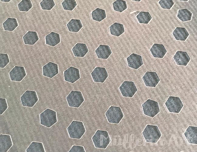 Kleingemusterter Schablonedruck ©muellerinart