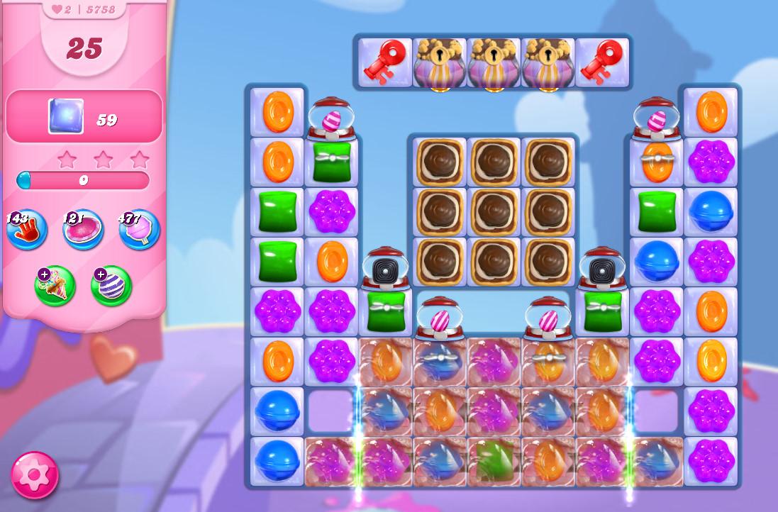 Candy Crush Saga level 5758