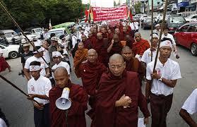 Biksu dan Kaum budha myanmar yang haus darah