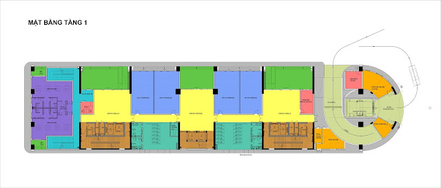 Thiết kế mặt bằng tầng 1 dự án Tây Hồ River View