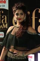 Ritika Singh in a Ethnic Deep Neck Dark Green Choli Ghagra at IIFA Utsavam Awards March 2017 ~ 034.JPG