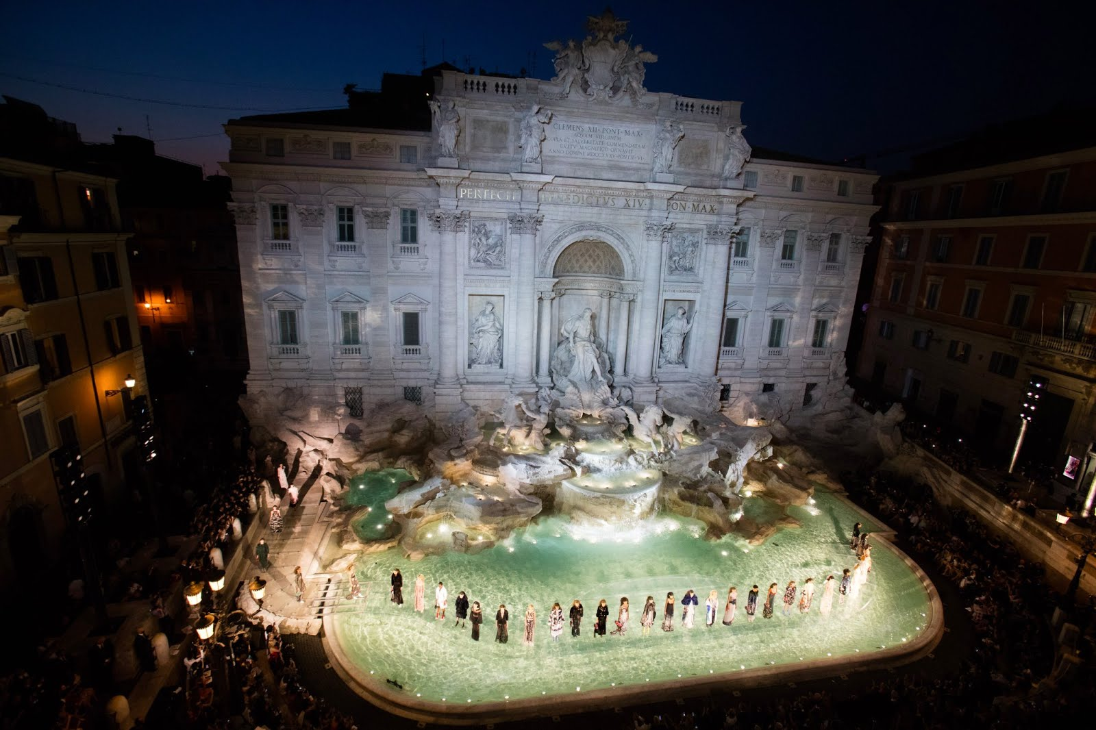 Fendi Fashion Show - 90th Anniversary - Rome - Trevi Fountain - Reflections with Raa