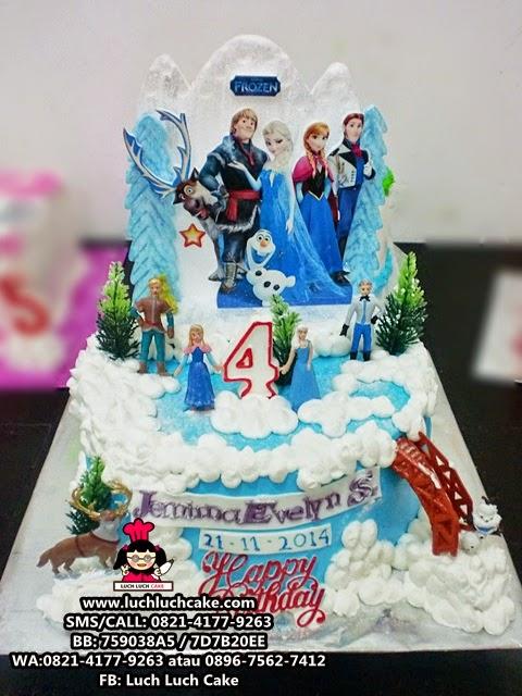 Luch Luch Cake Kue Tart Frozen Disney Princess Elsa