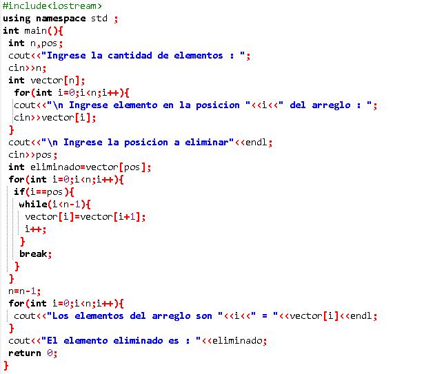 Solución De Algoritmos Código C Y Java Eliminar Un