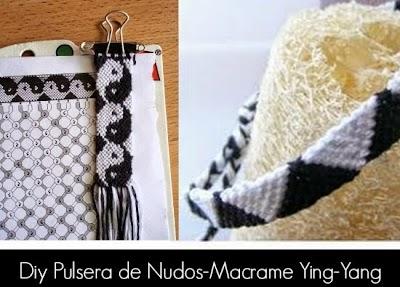 Como hacer la Pulsera de Nudos-Macrame Ying-Yang