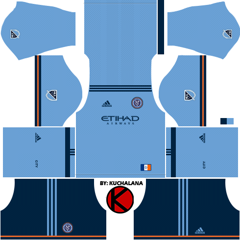 save off 60ebf 971cf New York City FC Kits 2018 - Dream League Soccer - Kuchalana