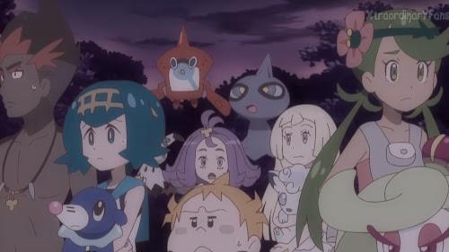 Pokemon Sol y Luna Capitulo 94 Temporada 20 Gran reunión de Pokémon fastasma, la casa embrujada de todos