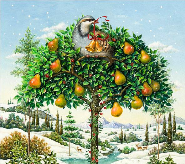 Christmas Partridge In A Pear Tree