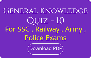 General Knowledge Quiz - 10