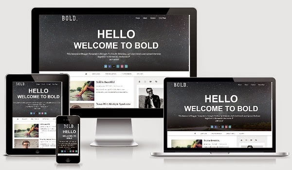 Bold Parallax Blogger Template Responsive Image