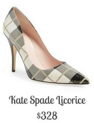 Sydney Fashion Hunter - Kate Spade Licorice Plaid Pump