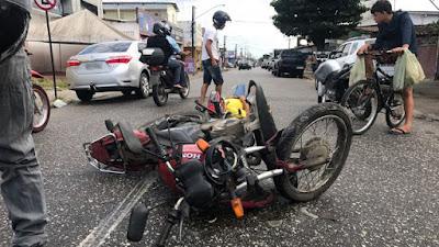 Motorista é atropelado em cruzamento de João Pessoa