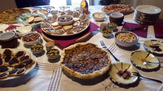 aperitivo di benvenuto a Casa Antheia
