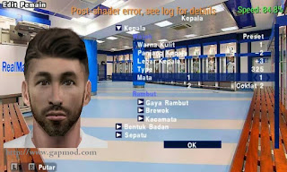 Download Texture Face Pack Real Madrid for PES PSP Android