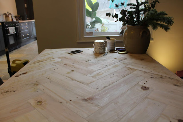 Pallet Table Top Sanded