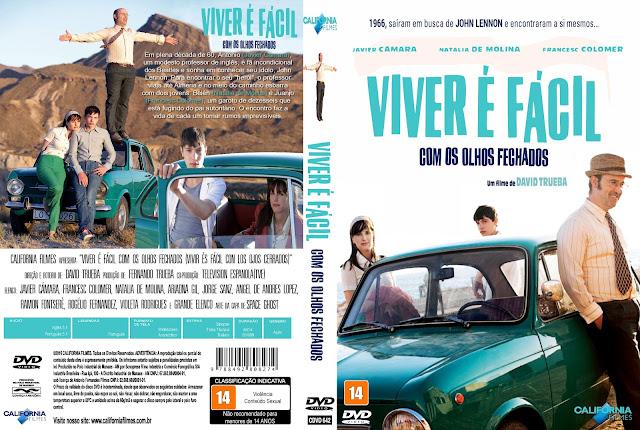 Capa DVD Viver É Fácil Com Os Olhos Fechados