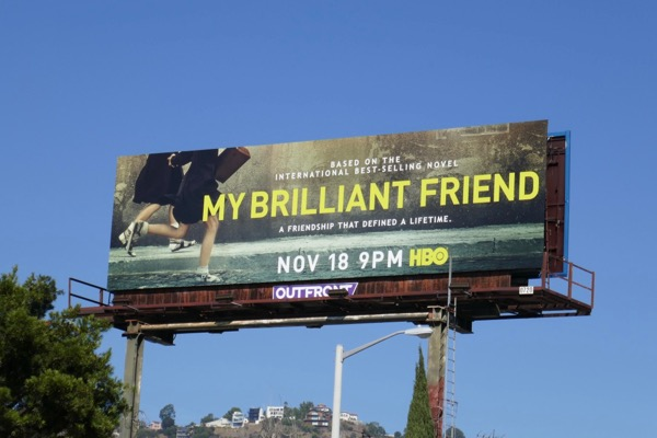 My Brilliant Friend series premiere billboard