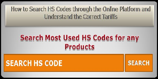 HS Code for the Products