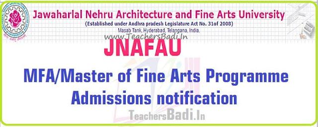 JNAFAU,MFA,Master of Fine Arts Programme Admissions 2016